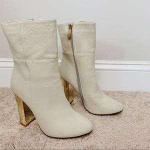 Cream Ankle Boots 8